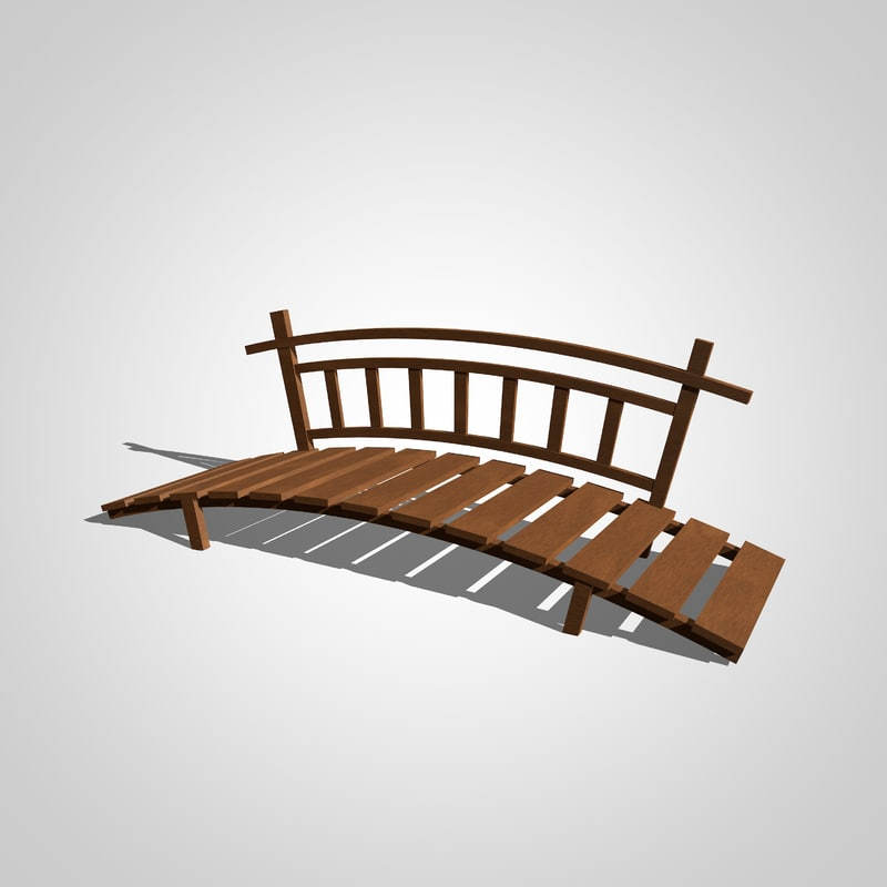 c4d wooden bridge