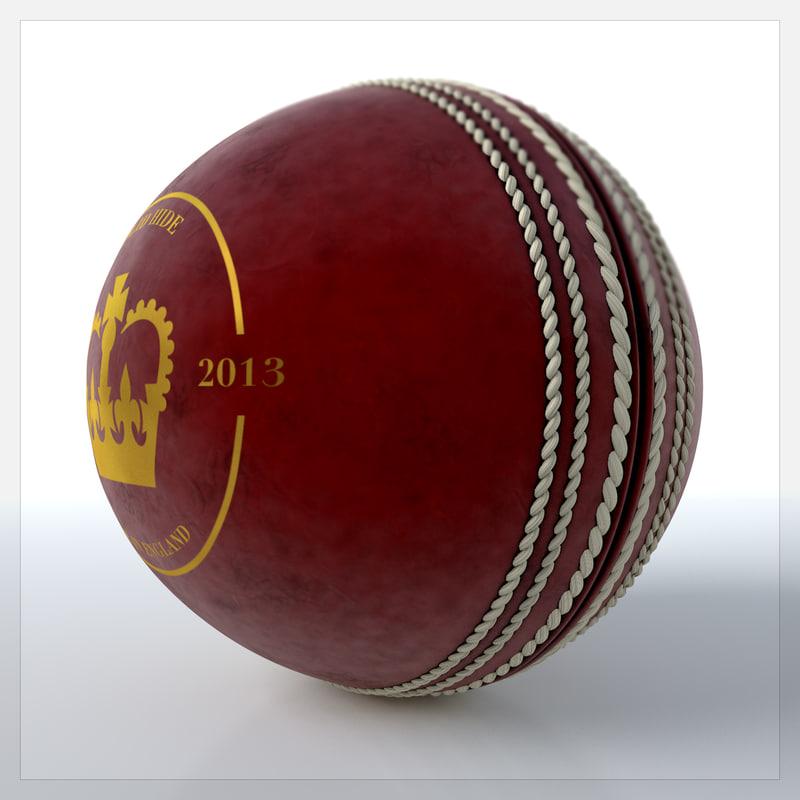 3d c4d cricket ball
