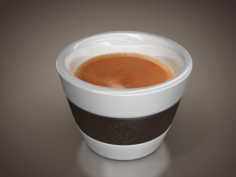 espresso coffee cup 3d model