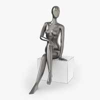 3d slim female mannequins