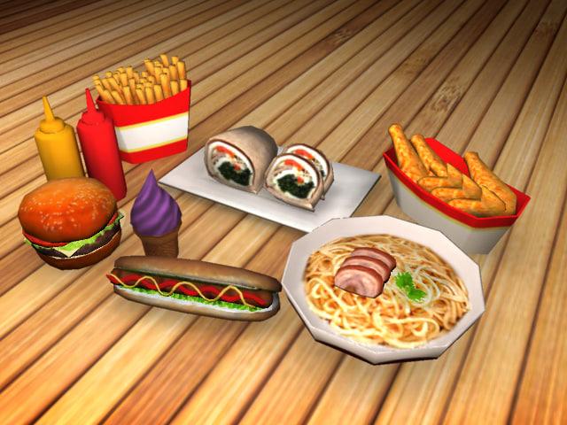 package food 3d model