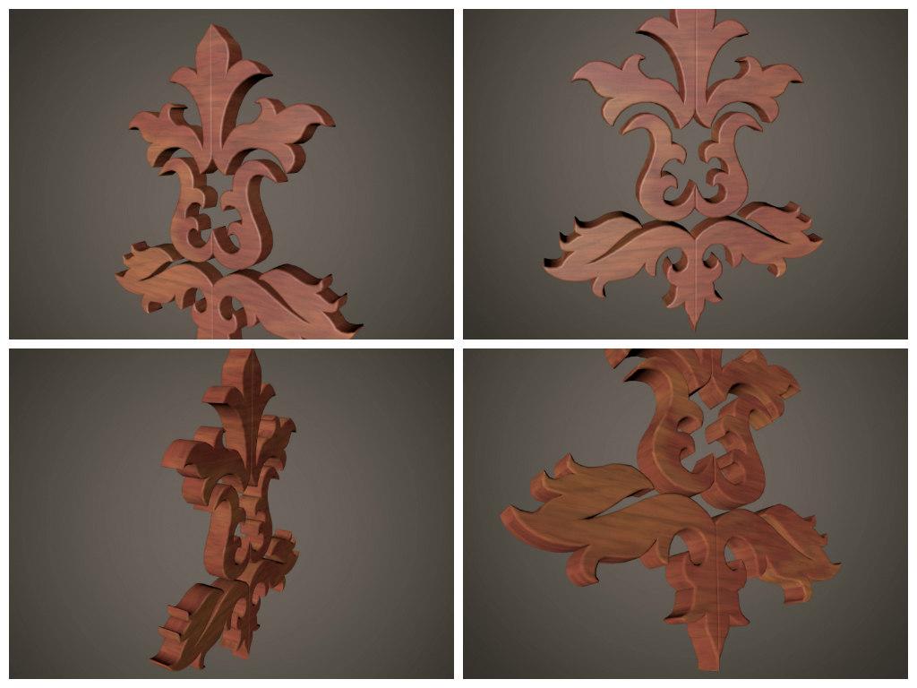 3d 3ds sculpture flower