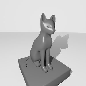 egyptian cat 3ds