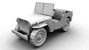 3d hitler jeep model