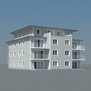 3d condo building model
