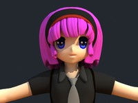 anime girl 3d max