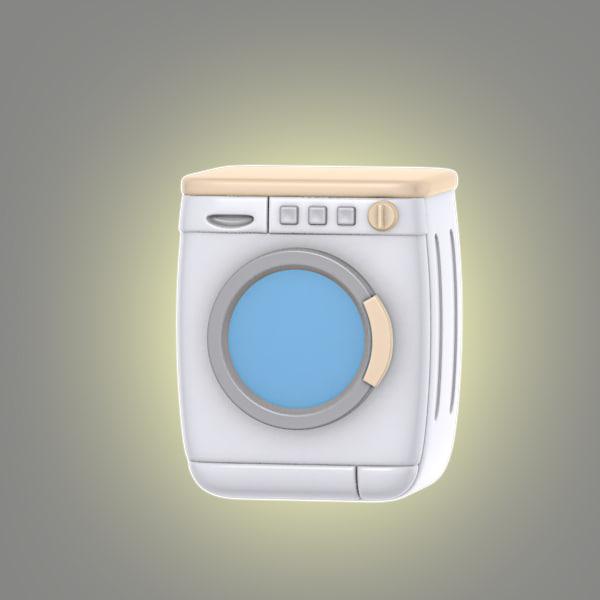 3d cartoon washing machine