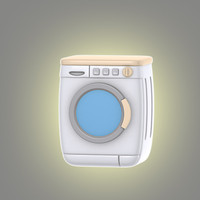 3d cartoon washing machine