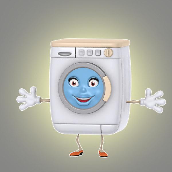 Cartoon Washing Machine ~ D model cartoon washing machine