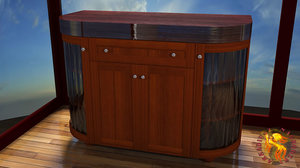 3d cabinet rounded model