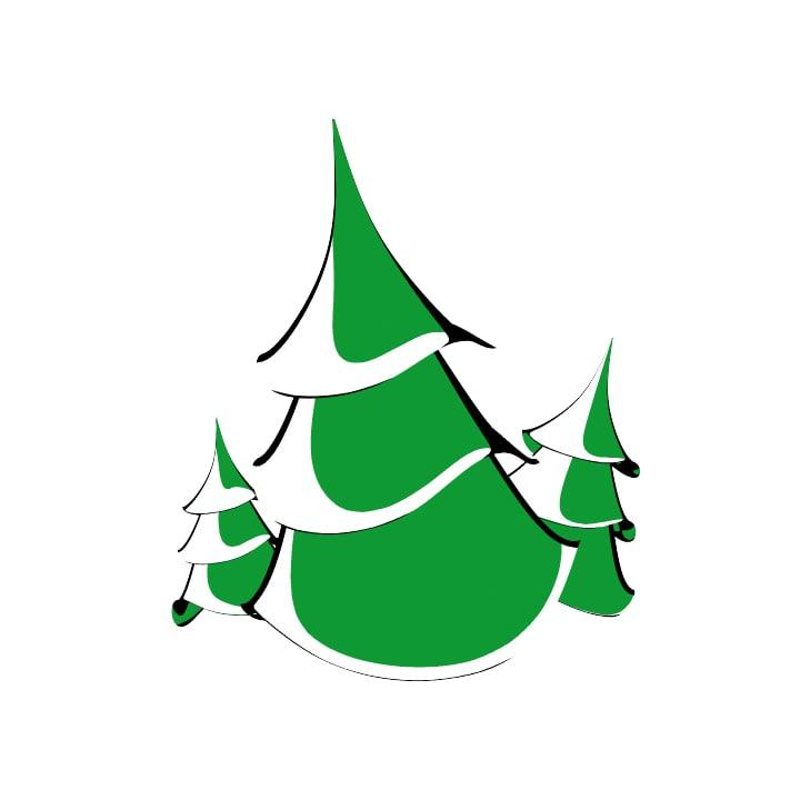 3d model cartoon pine tree