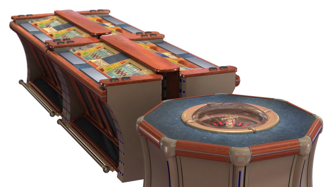 3d obj casino roulette cabinet 8
