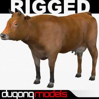 dugm02 cow 02 3d fbx