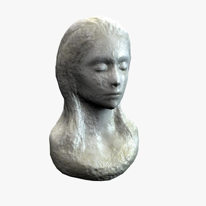 3d c4d female bust