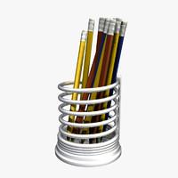 Pencils in Steel Holder