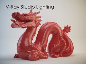 production studio lighting v-ray 3d max