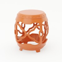 3d model baker macao garden seat