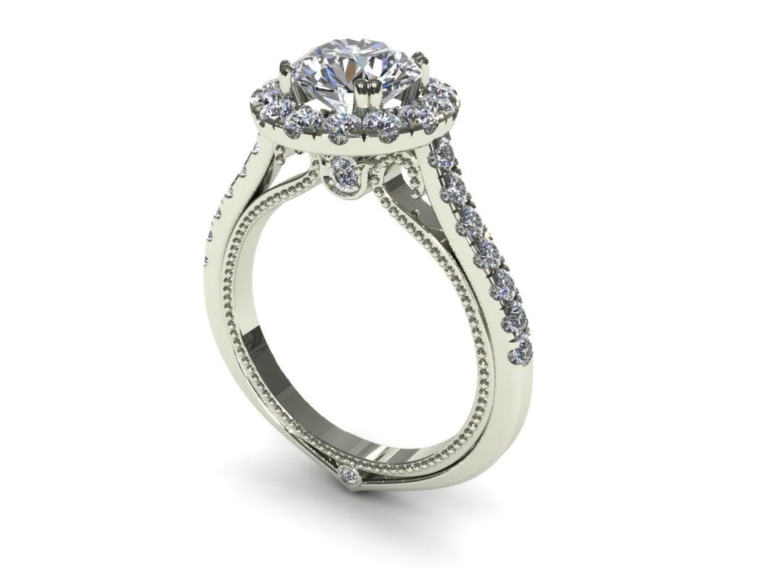 ring jewelry 3d 3dm