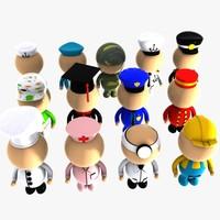 Cartoon Characters (Jobs)
