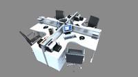 Realistic Workstation Model with Extras