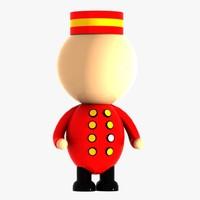 3d model receptionist character