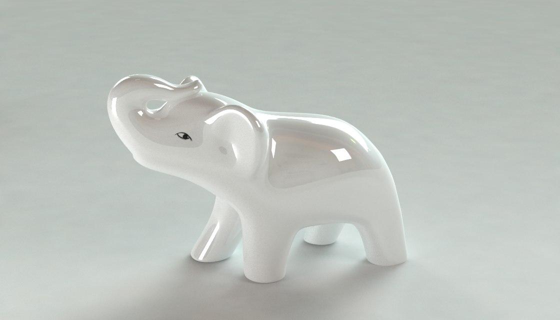 3d 3ds elephant elefante