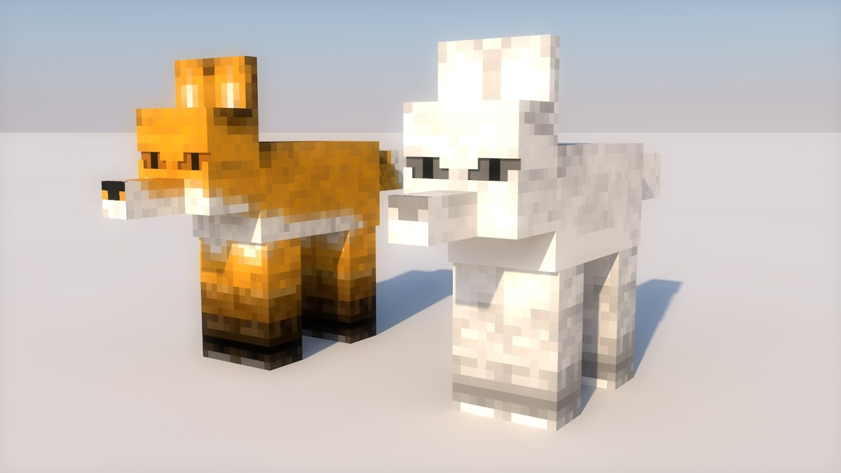 fox minecraft 3d c4d