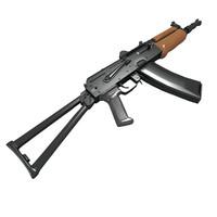 aks-74u carbine assault rifle 3d model