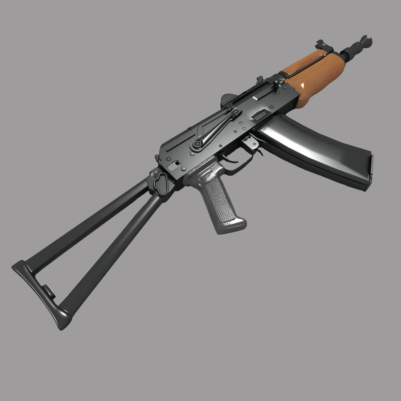 aks-74u carbine assault rifle 3d model