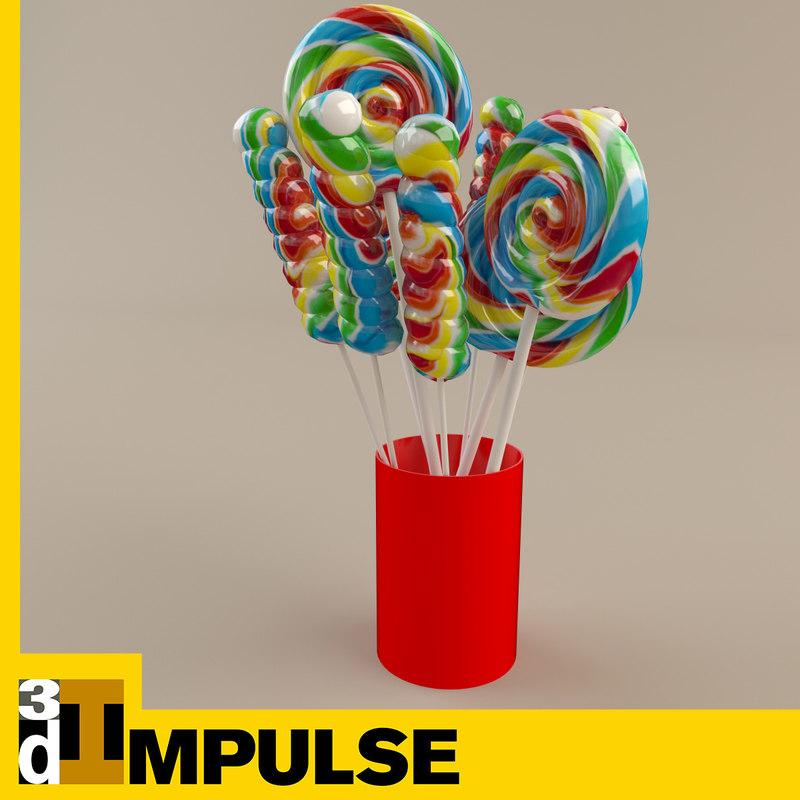 3d model lollipop cup