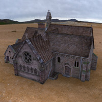 church building 3d model