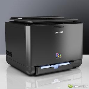 3d model samsung laser color printer