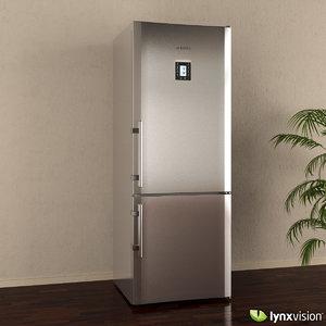 3d liebherr refrigerator freezer model
