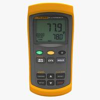 3d digital thermocouple meter fluke model