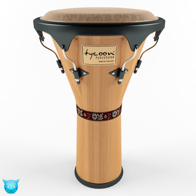 djembe drum percussion 3d model