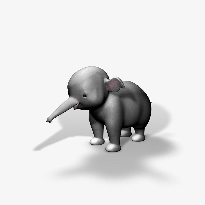dxf baby elephant