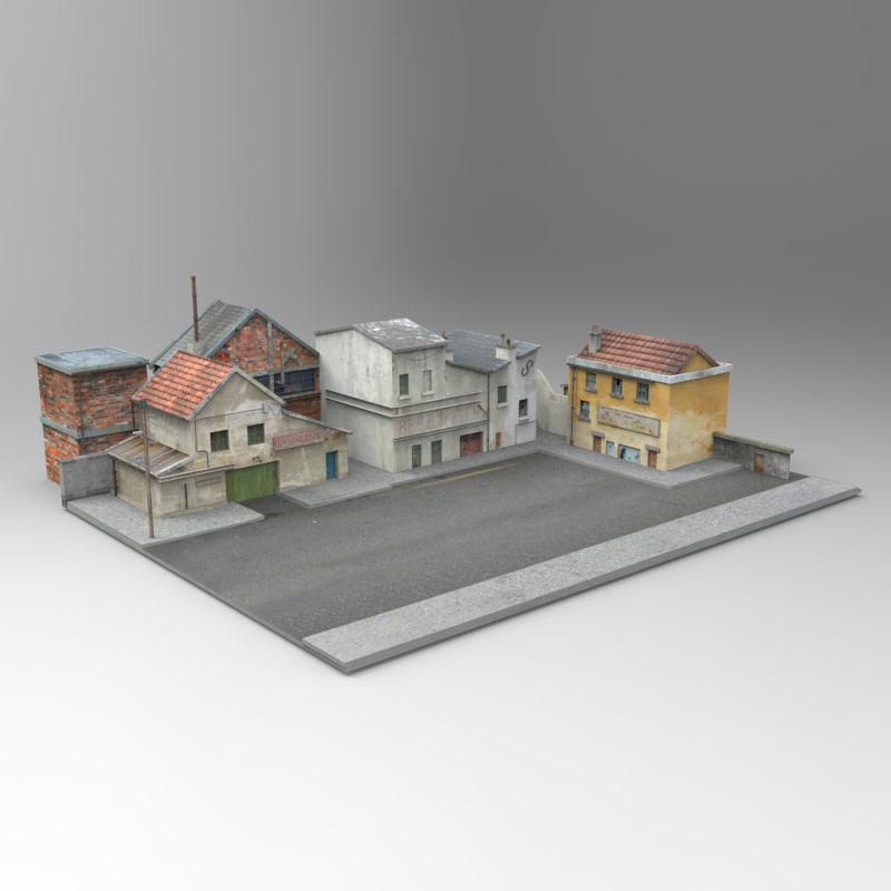3d model french village