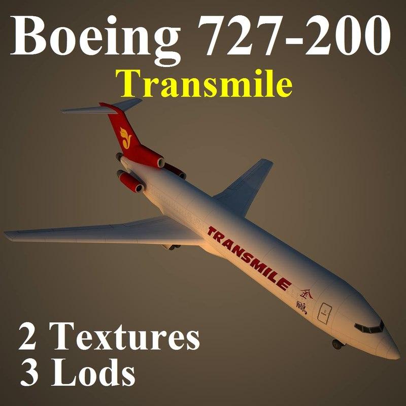 boeing 727-200 tse 3d model