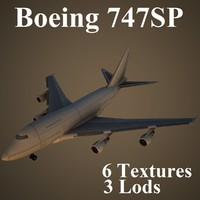 3d model boeing 747sp air