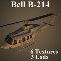 bell b-214 low-poly 3d model
