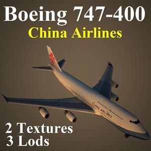 boeing 747-400 cal 3d model