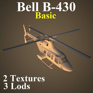 bell basic helicopter 3d max