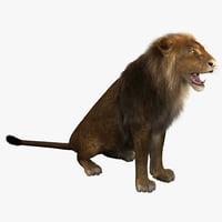 3ds max lion pose 4