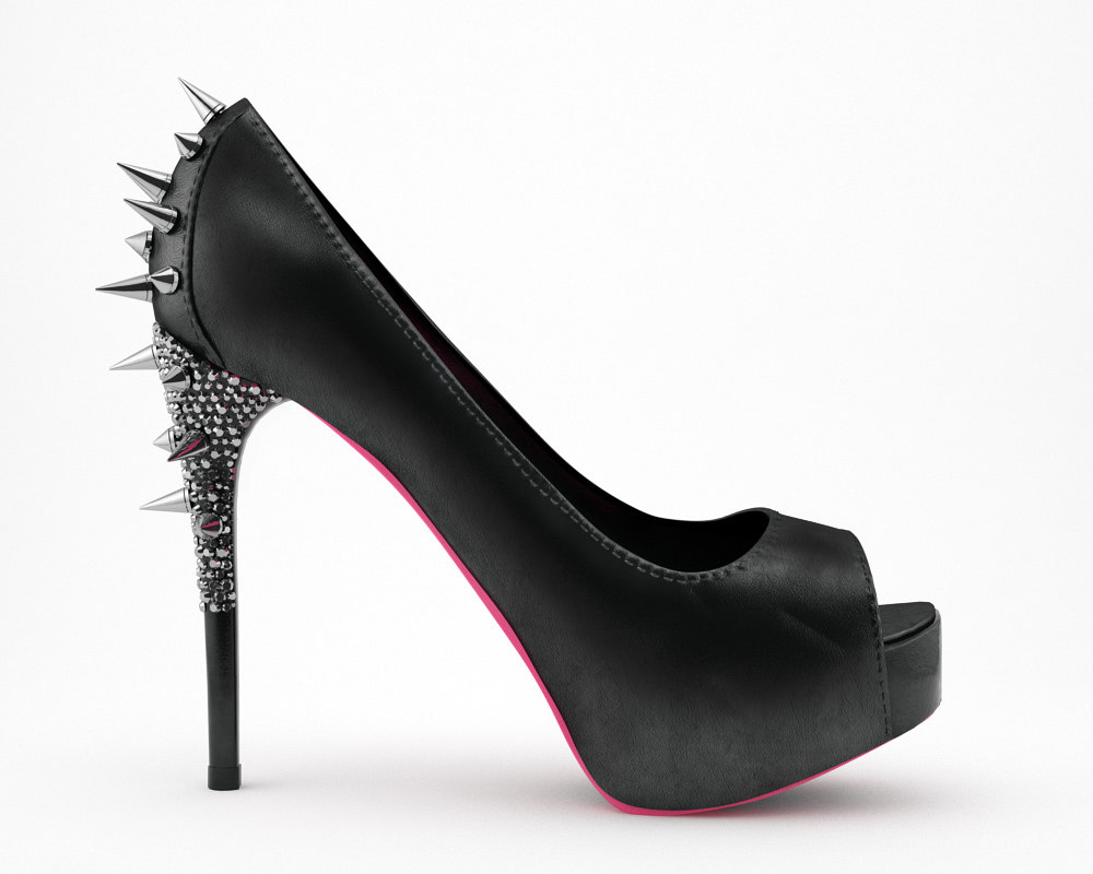 3d ruthie woman shoe model