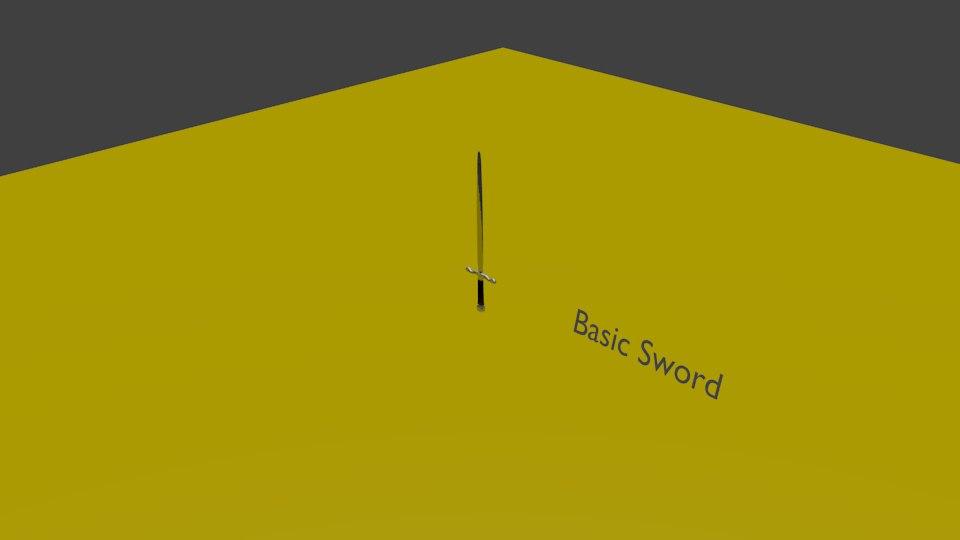 basic sword 3d model