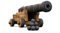 pirate ship cannon weapon 3ds