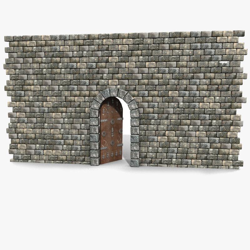3d old brick castle