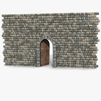 3d old brick castle
