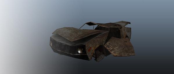 wreck car 3d x