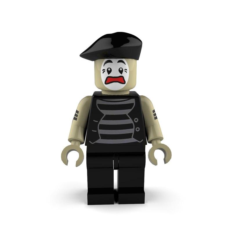 mime worried 3d model